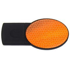 Orange Mosaic Structure Background Usb Flash Drive Oval (2 Gb)