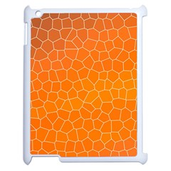 Orange Mosaic Structure Background Apple Ipad 2 Case (white)