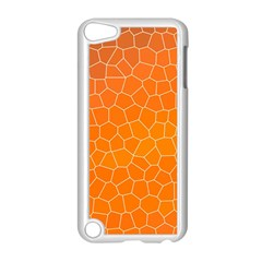 Orange Mosaic Structure Background Apple Ipod Touch 5 Case (white)