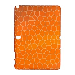 Orange Mosaic Structure Background Samsung Galaxy Note 10 1 (p600) Hardshell Case