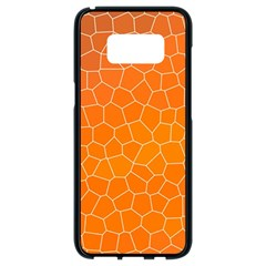 Orange Mosaic Structure Background Samsung Galaxy S8 Black Seamless Case