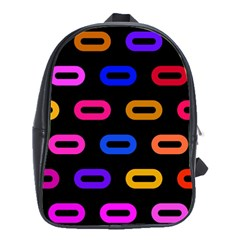 Pattern Background Structure Black School Bag (large)