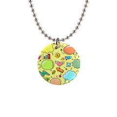 Cute Sketch Child Graphic Funny 1  Button Necklace