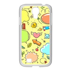 Cute Sketch Child Graphic Funny Samsung Galaxy S4 I9500/ I9505 Case (white)