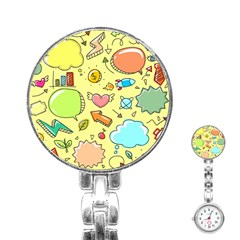 Cute Sketch Child Graphic Funny Stainless Steel Nurses Watch