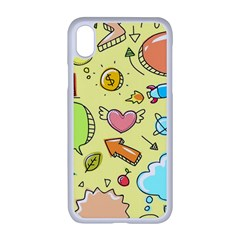 Cute Sketch Child Graphic Funny Apple Iphone Xr Seamless Case (white)