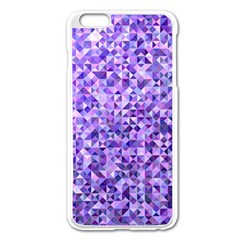 Purple Triangle Background Apple Iphone 6 Plus/6s Plus Enamel White Case