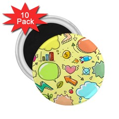 Cute Sketch Child Graphic Funny 2 25  Magnets (10 Pack)  by Pakrebo