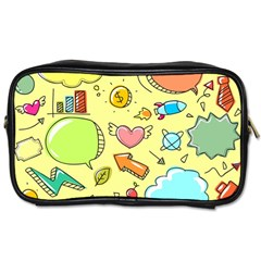 Cute Sketch Child Graphic Funny Toiletries Bag (two Sides)
