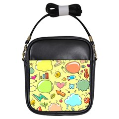 Cute Sketch Child Graphic Funny Girls Sling Bag