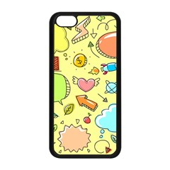 Cute Sketch Child Graphic Funny Apple Iphone 5c Seamless Case (black)