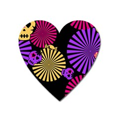 Seamless Halloween Day Of The Dead Heart Magnet