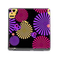 Seamless Halloween Day Of The Dead Memory Card Reader (square 5 Slot)