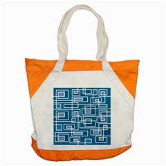 Geometric Rectangle Shape Linear Accent Tote Bag