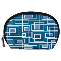 Geometric Rectangle Shape Linear Accessory Pouch (large)