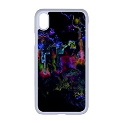 Grunge Paint Splatter Splash Ink Apple Iphone Xr Seamless Case (white)