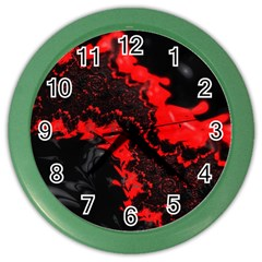 Red Black Fractal Mandelbrot Art Wallpaper Color Wall Clock