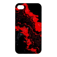 Red Black Fractal Mandelbrot Art Wallpaper Apple Iphone 4/4s Premium Hardshell Case