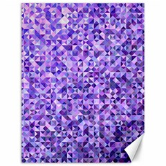 Purple Triangle Background Canvas 12  X 16