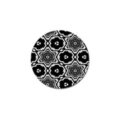Black And White Pattern Background Structure Golf Ball Marker