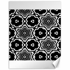 Black And White Pattern Background Structure Canvas 12  X 16