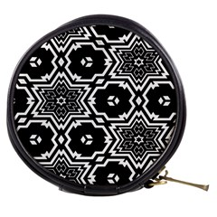 Black And White Pattern Background Structure Mini Makeup Bag