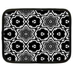 Black And White Pattern Background Structure Netbook Case (xxl)