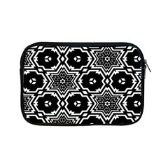 Black And White Pattern Background Structure Apple Ipad Mini Zipper Cases