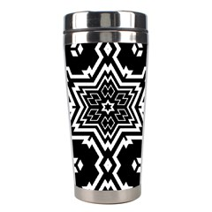Black And White Pattern Background Structure Stainless Steel Travel Tumblers