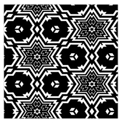 Black And White Pattern Background Structure Large Satin Scarf (square)