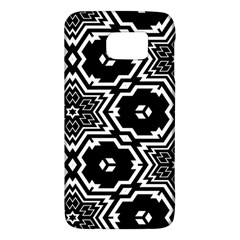 Black And White Pattern Background Structure Samsung Galaxy S6 Hardshell Case
