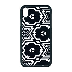 Black And White Pattern Background Structure Apple Iphone Xr Seamless Case (black)