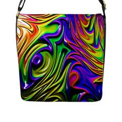 Fractal Mandelbrot Art Wallpaper Flap Closure Messenger Bag (l) by Pakrebo