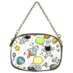 Sketch Cartoon Space Chain Purse (one Side)