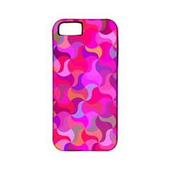 Mosaic Cute Apple Iphone 5 Classic Hardshell Case (pc+silicone)