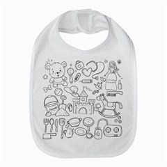 Baby Hand Sketch Drawn Toy Doodle Bib