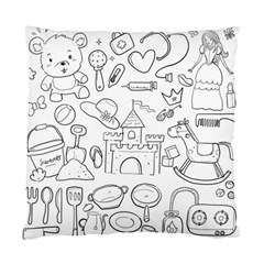 Baby Hand Sketch Drawn Toy Doodle Standard Cushion Case (two Sides)