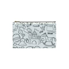 Baby Hand Sketch Drawn Toy Doodle Cosmetic Bag (small)