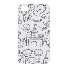 Baby Hand Sketch Drawn Toy Doodle Apple Iphone 4/4s Premium Hardshell Case by Pakrebo