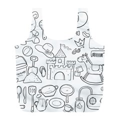 Baby Hand Sketch Drawn Toy Doodle Full Print Recycle Bag (l)