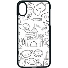 Baby Hand Sketch Drawn Toy Doodle Apple Iphone X Seamless Case (black)
