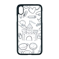 Baby Hand Sketch Drawn Toy Doodle Apple Iphone Xr Seamless Case (black)