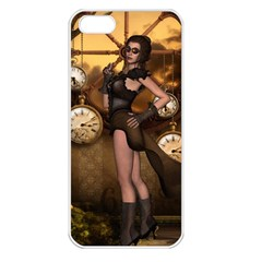 Wonderful Steampunk Lady Apple Iphone 5 Seamless Case (white)