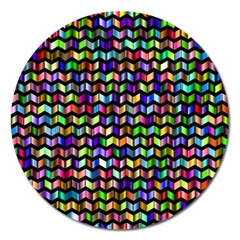 Ornamental Pattern Magnet 5  (round)