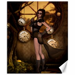 Wonderful Steampunk Lady Canvas 8  X 10