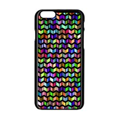 Ornamental Pattern Apple Iphone 6/6s Black Enamel Case by Jojostore