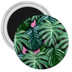 Painting Leaves Tropical Jungle 3  Magnets by Jojostore