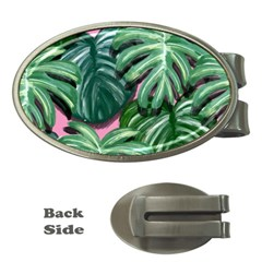 Painting Leaves Tropical Jungle Money Clips (oval)  by Jojostore