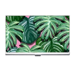 Painting Leaves Tropical Jungle Business Card Holder
