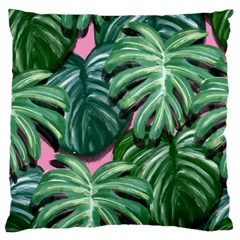 Painting Leaves Tropical Jungle Large Cushion Case (two Sides)
